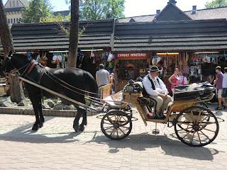 Coche de caballos en Zakopane, Polonia