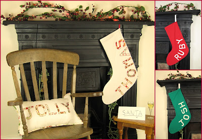 Personalised Christmas Stockings ByElsieB