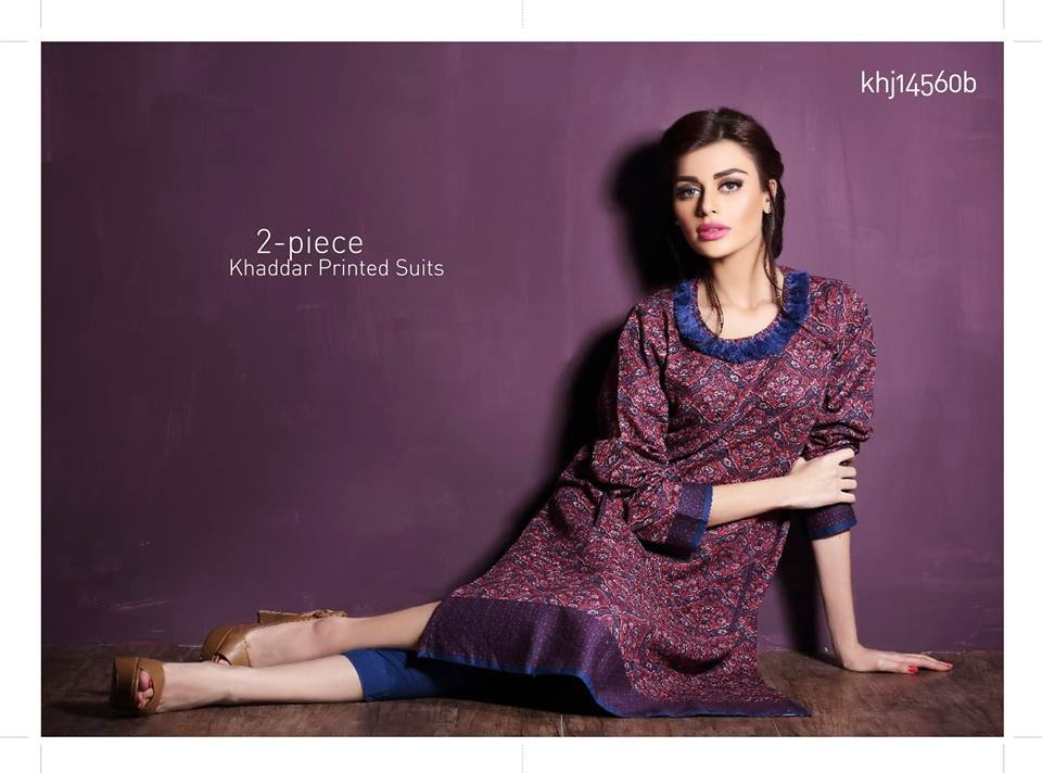 Khaddar Winter Kurti Dress Collection
