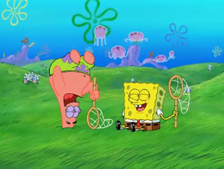 Cartoon wallpaper SpongeBob SquarePants are going jellyfishing with patrick star foto logo picture artwork