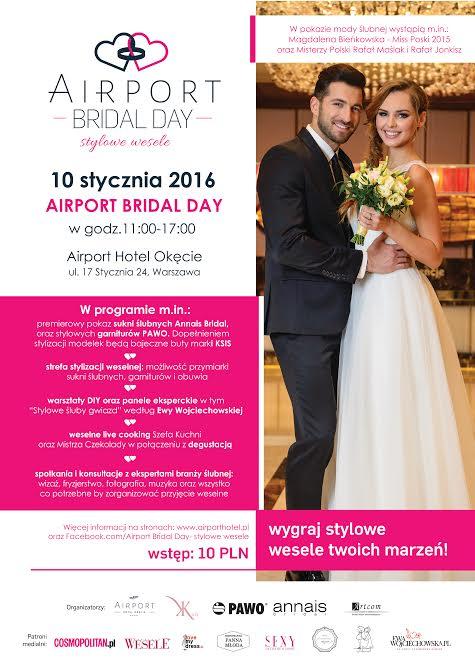 wychodzezamaz.pl patronem medialnym Airport Bridal Day