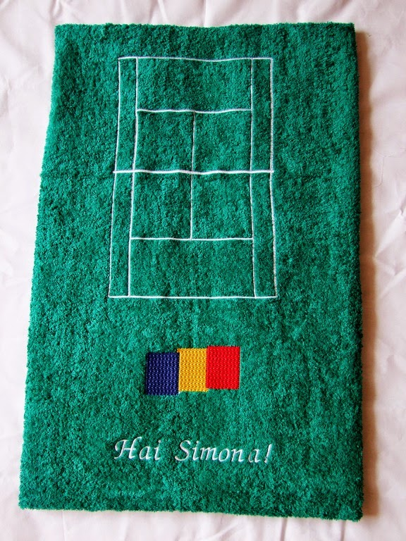 cadou personalizat - prosop personalizat teren de tenis