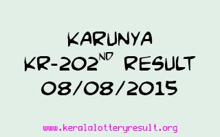 Karunya KR 202 Lottery Result 8-8-2015