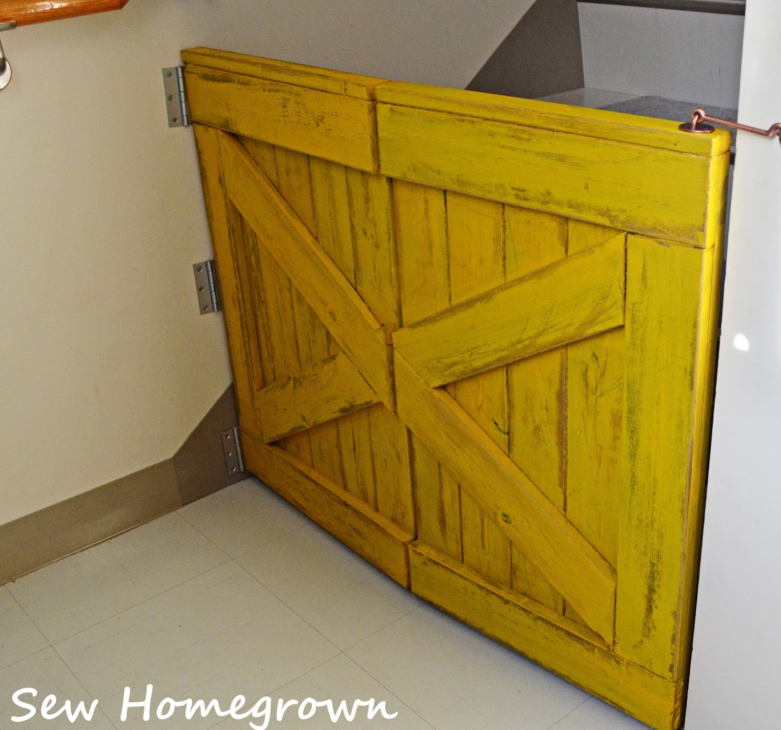 Sew Homegrown Barndoor Baby Gate