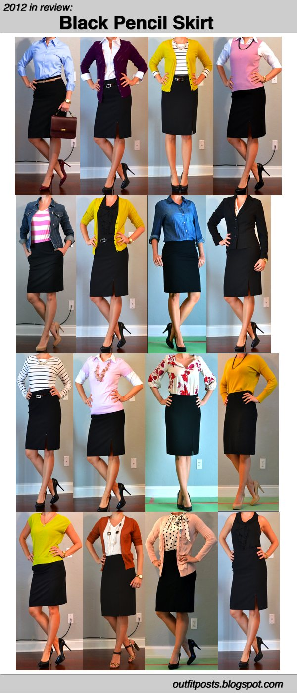 Black Pencil Skirt Ideas
