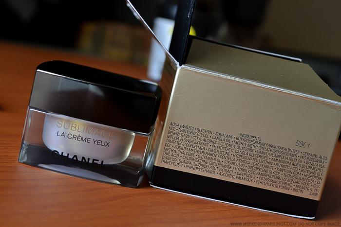 Chanel Sublimage La Creme Yeux Ultimate Regeneration Eye Cream Ingredients Antiaging Skincare