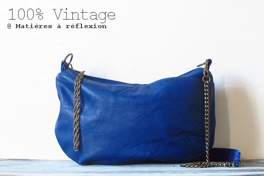 SOLDES Sac Mini-Galliane bleu electrique
