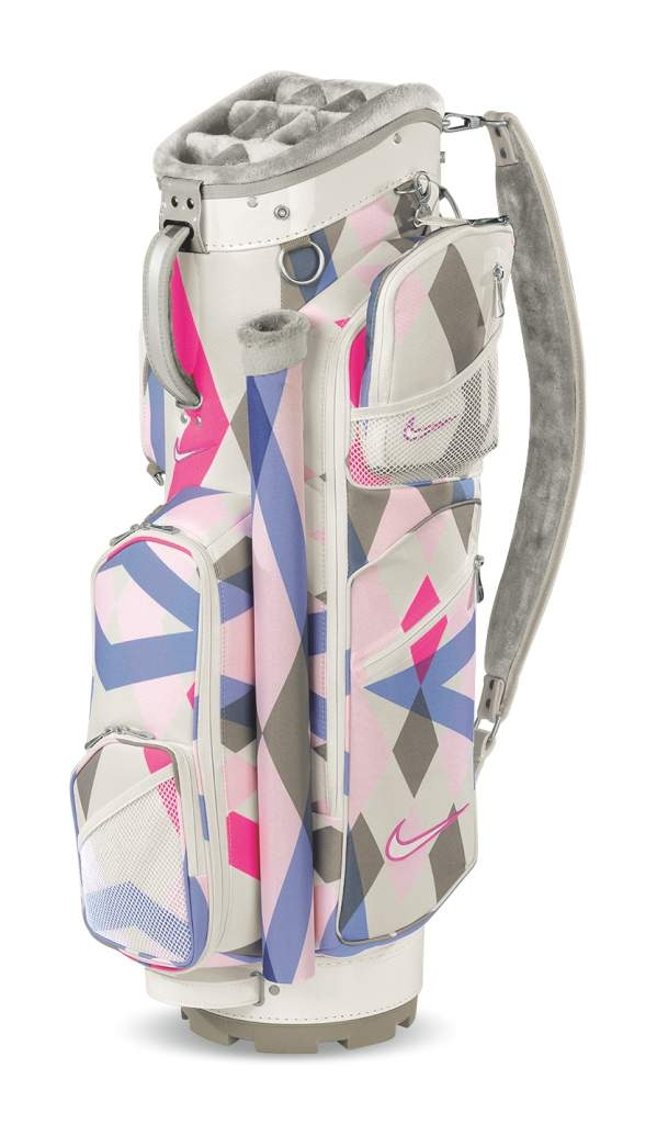For Women Who Prefer Bright Colors There S The Nike Brassie Ii Cart Bag That Carries A Argyle Pattern In Hues Of Pink And Lavender With Classy