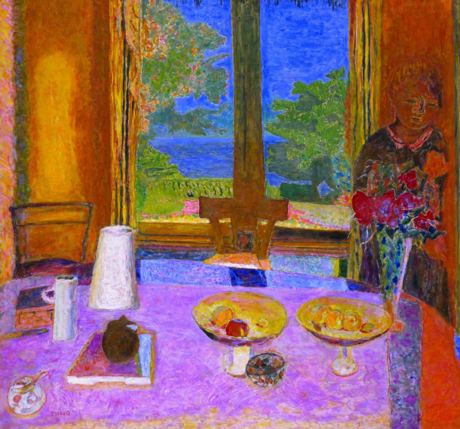 Bonnard Dining Room Overlooking The Garden