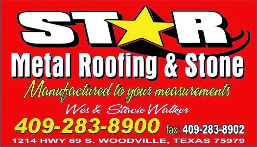 Thank You Star Metal Roofing - Barrel Sponsor