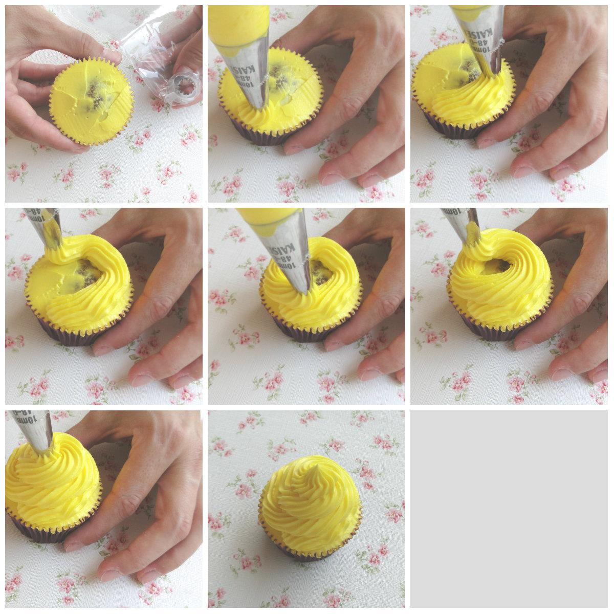 Tutorial com decorar amb buttercream c mo decorar con for Decoracion en cupcakes