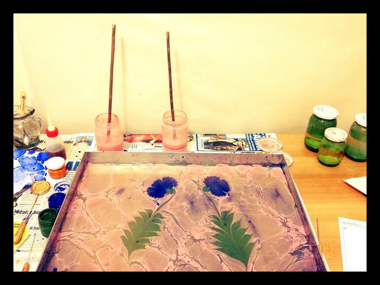 Pinpines Evde Ebru Yapımı Için Pratik Bilgiler