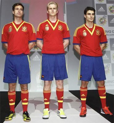equipación selección española de fútbol Copa Confederaciones 2013