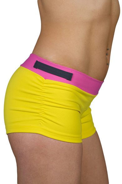 Style Athletics Zweet Sport The Jaco Short Yellow Pink