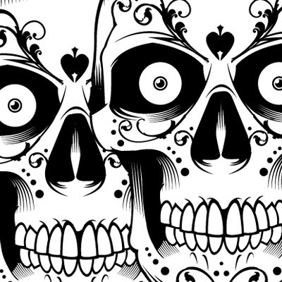 Weird Skull Tattoo Design
