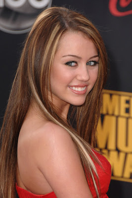 American Actress Miley Cyrus Smiling