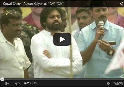 "Crowd Cheers Pawan Kalyan as ""CM"" ""CM"""