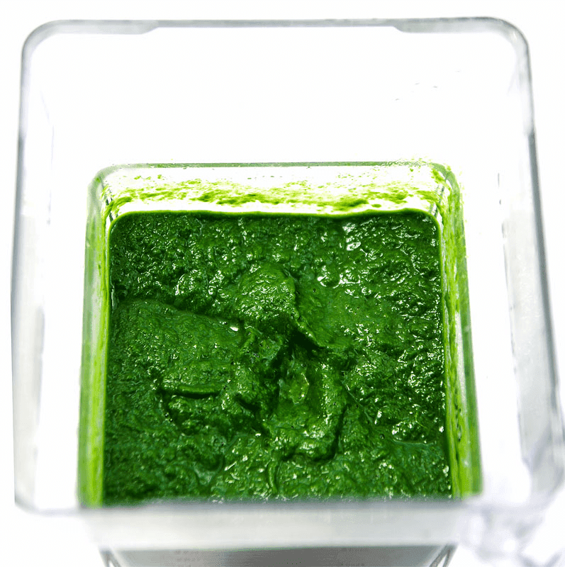 Swiss chard like spinach puree with Blendtec