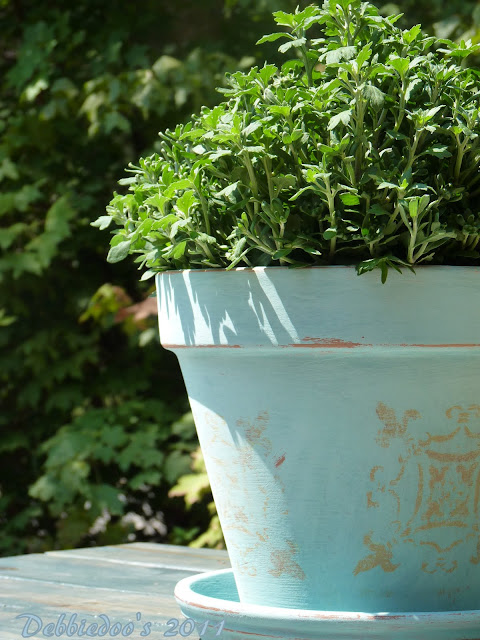 Chalk paint, terra cotta pots, MUMS the word! - Debbiedoo's