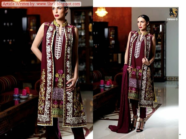 Shaista Embroidered Winter Collection 2014