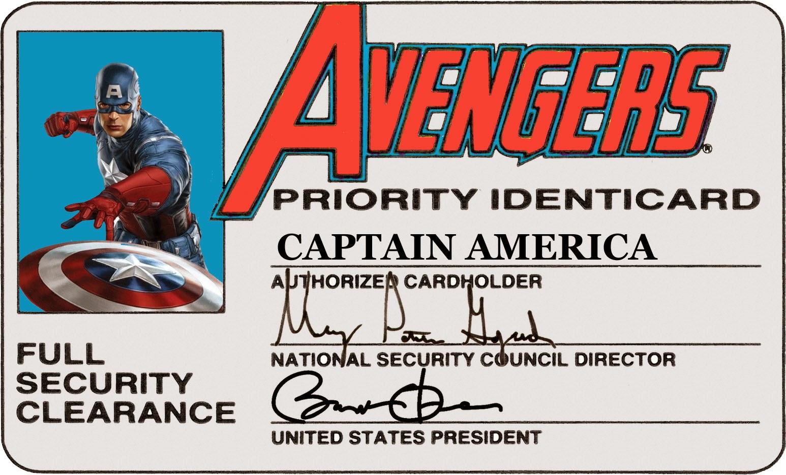 republic of replicants avengers id cards