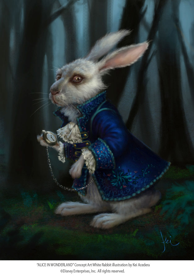 Alice in wonderland rabbit tim burton