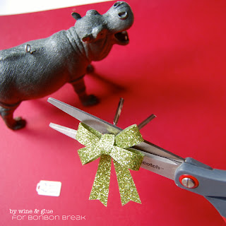 I Want a Hippopotamus Christmas Ornament by Lisa Longley of Wine & Glue DSC 0944a