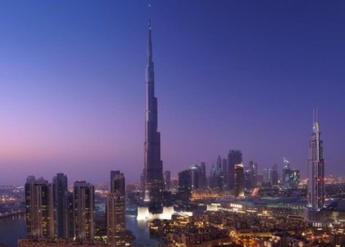 Burj Khalifa, der höchste Turm der Welt ist in Dubai