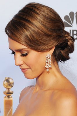 Jessica Alba Bobby Pinned Updo Hairstyle Lookbook