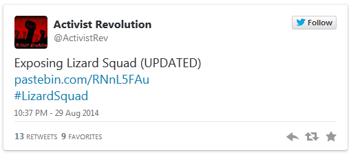 DDoS group Lizard Squad apparently caught and exposed