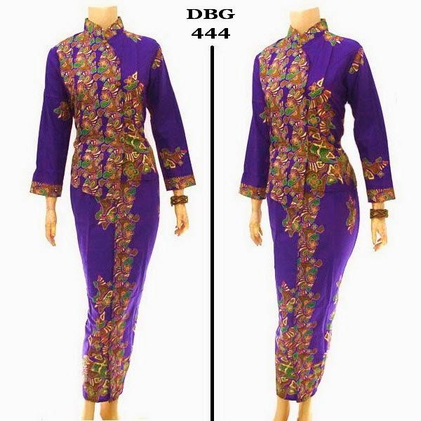Busana Baju Batik Muslim gamis