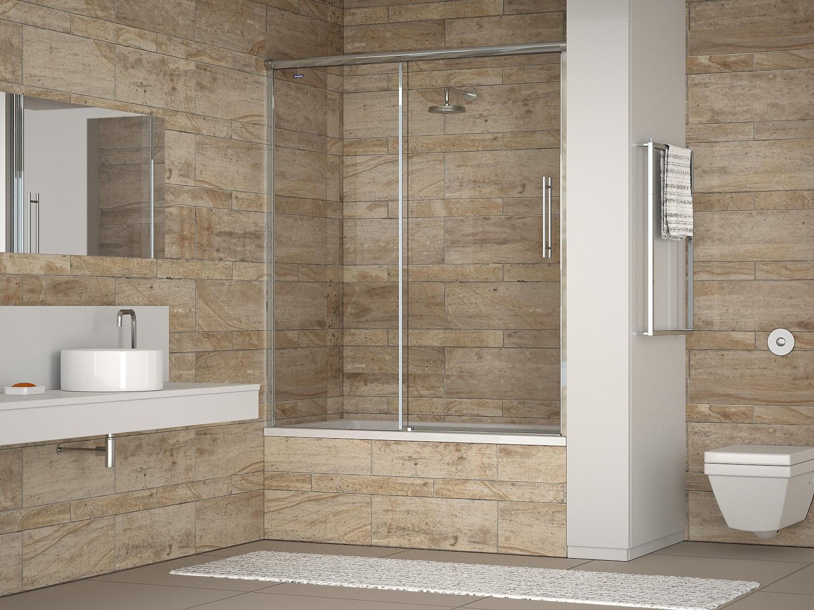 Diseno De Baño Minimalista: para frontal de bañeras con puerta corredera las guías superiores de