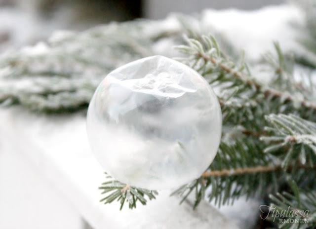 jäätynyt saippuakupla, talvi