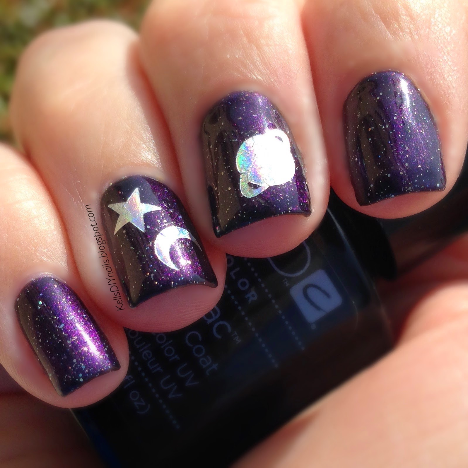 Kell\'s DIY Nails: CND Shellac, Black Pool and Dazzling Dance.