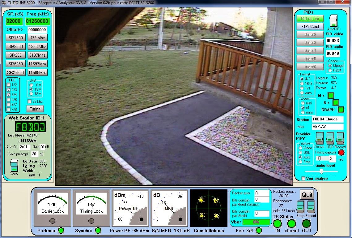 TUTIOUNE . LIVE monitor F8BOJ..tx 437 rx 1260 relayage F1FY