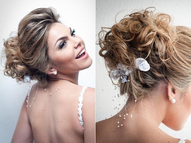 Peinados rizos y trenzas peinados para novia 2013 for Semirecogido rizado