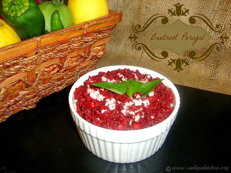images for Beetroot Poriyal Recipe / Beetroot Stir Fry Recipe