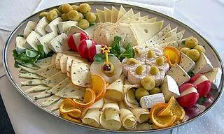 Tabla de calorías-queso