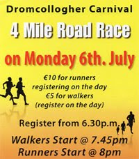 4 mile race in S Limerick...Mon 6th July