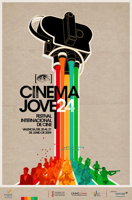 24th international film festival cinema jove poster via casmic lab