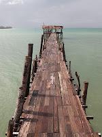 The rickety jetty - Pulau Sibu
