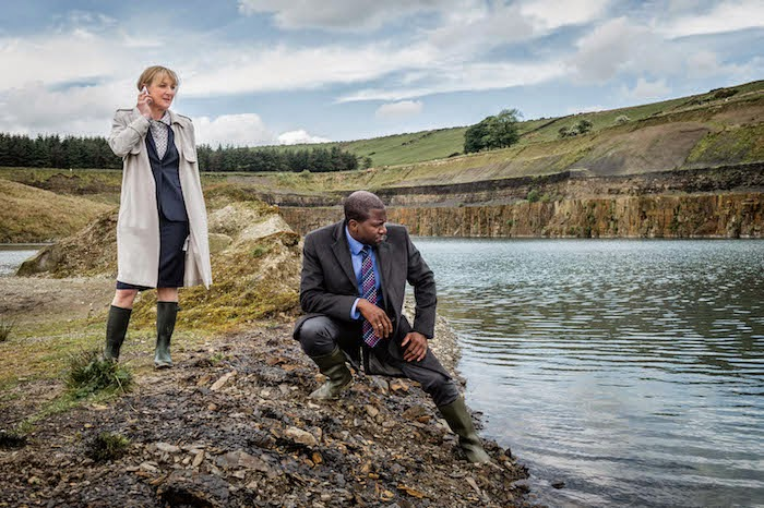 LESLEY SHARP as DC Janet Scott and DELROY BROWN as DC Lee Broadhurst