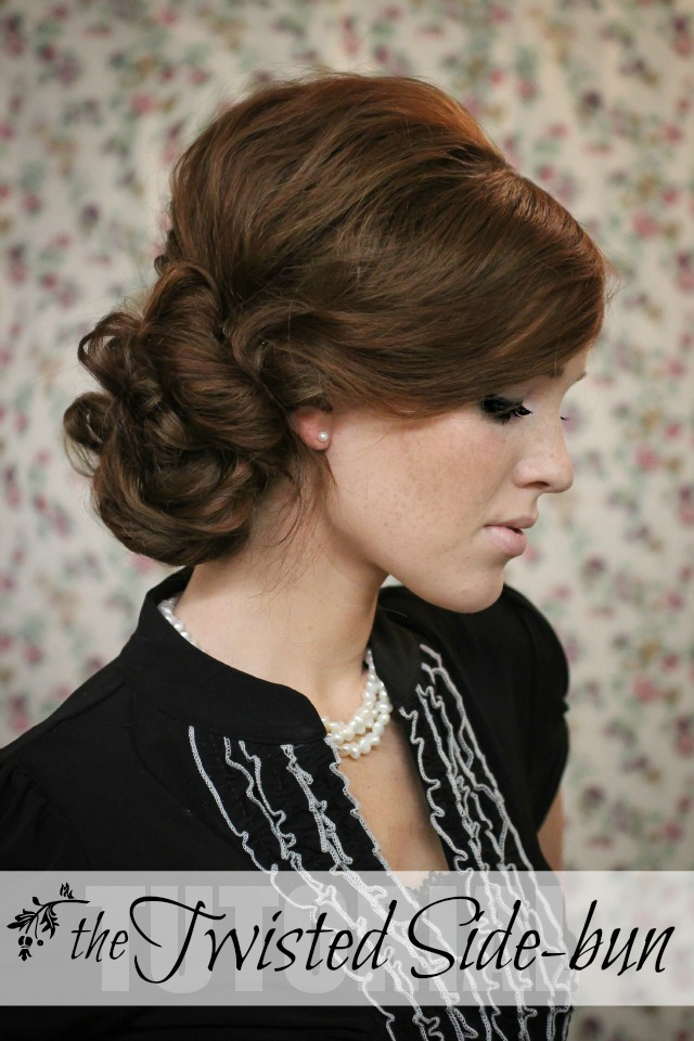 Holiday Hair Week - Tutorial #7: The Twisted Sidebun