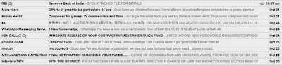 Email spam alert and advice