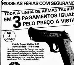 Propaganda das Armas Sears: passar as férias com segurança.