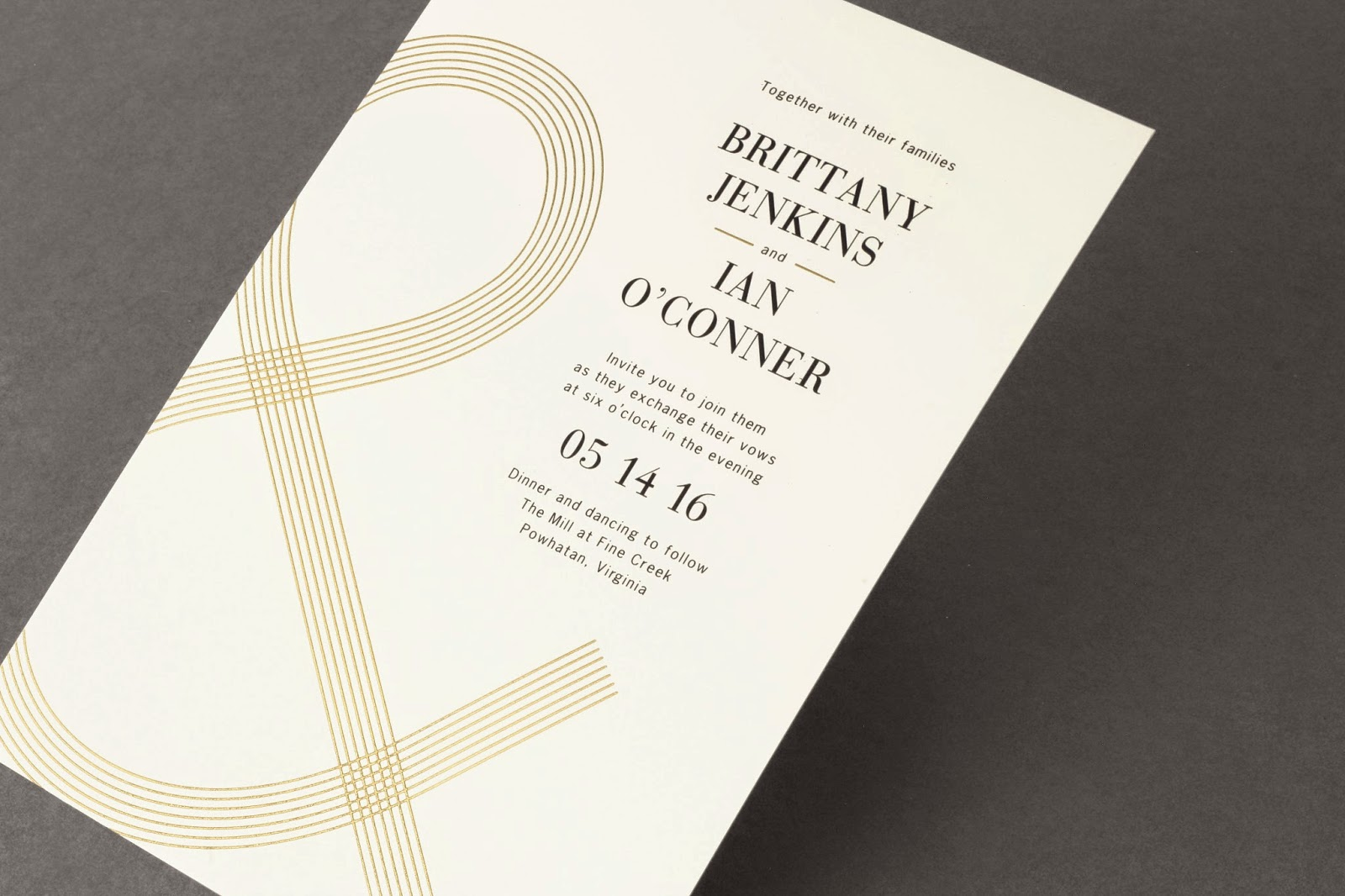 Foil Stamped In Gold On This Invitation, Our Version Manages To Feel Both  Festive And Elegant. Depending On Your Taste, Weu0027ve Included More  Traditional ...