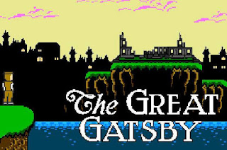 The Great Gatsby Nintendo NES 1990 Video Game opening scene pixelated