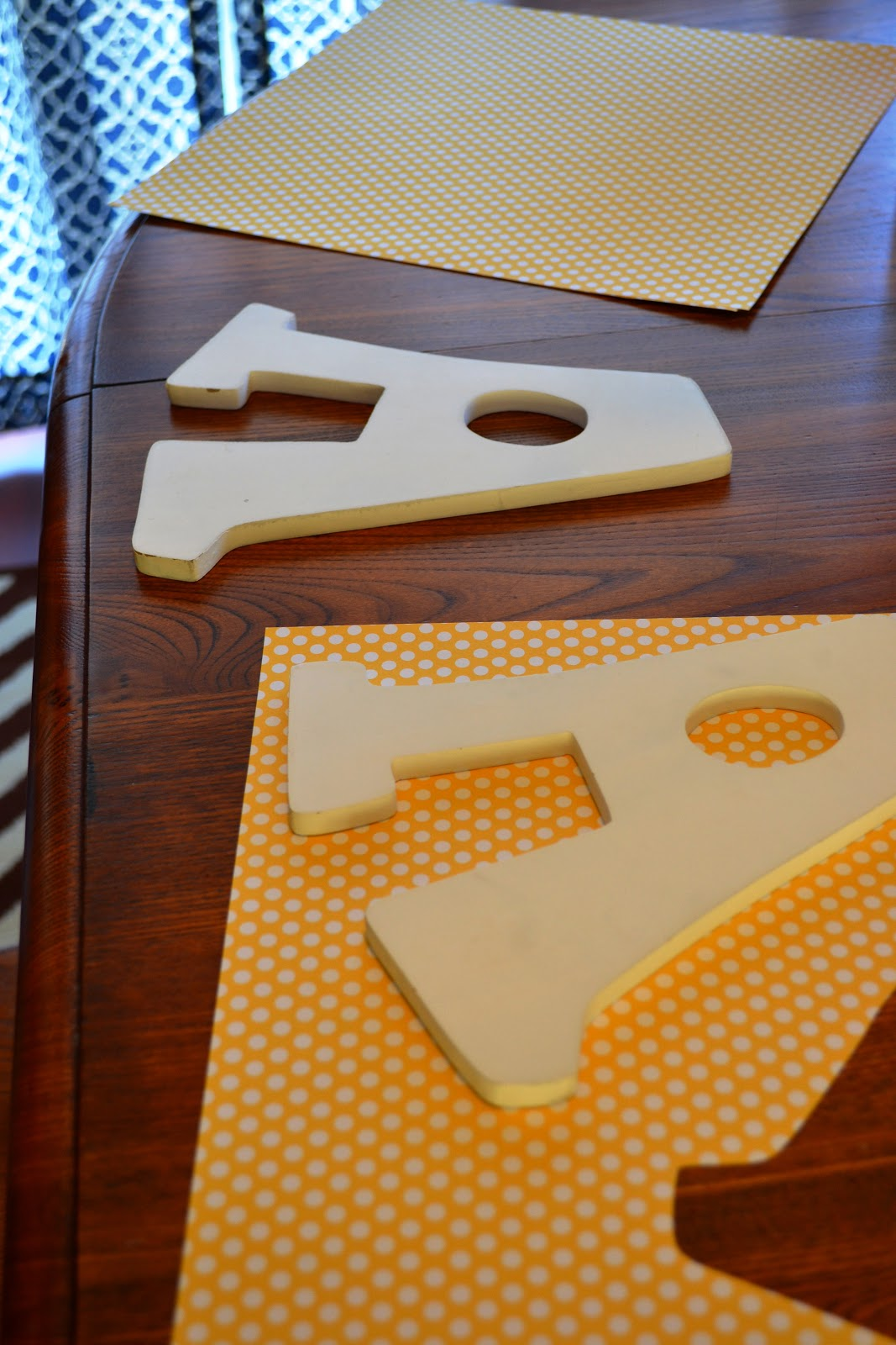 How to scrapbook wooden letters
