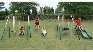 This swing set accessory, when added to the Skywalker Sports module jungle gym, will allow your kids to soar through the air on a traditional saddle seat swing or practice their gymnastic capabilities on the handgrip swing with leg thaurianacam.cf Givers: This item ships in its original packaging.