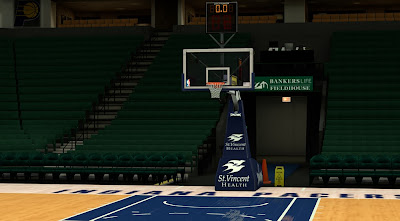 NBA 2K14 Indiana Pacers Court Mod